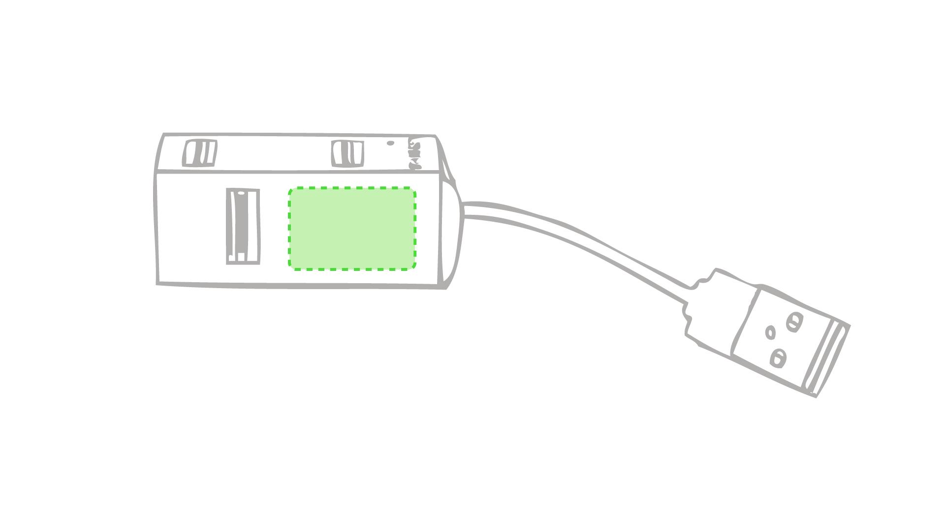 Cara con un puerto USB