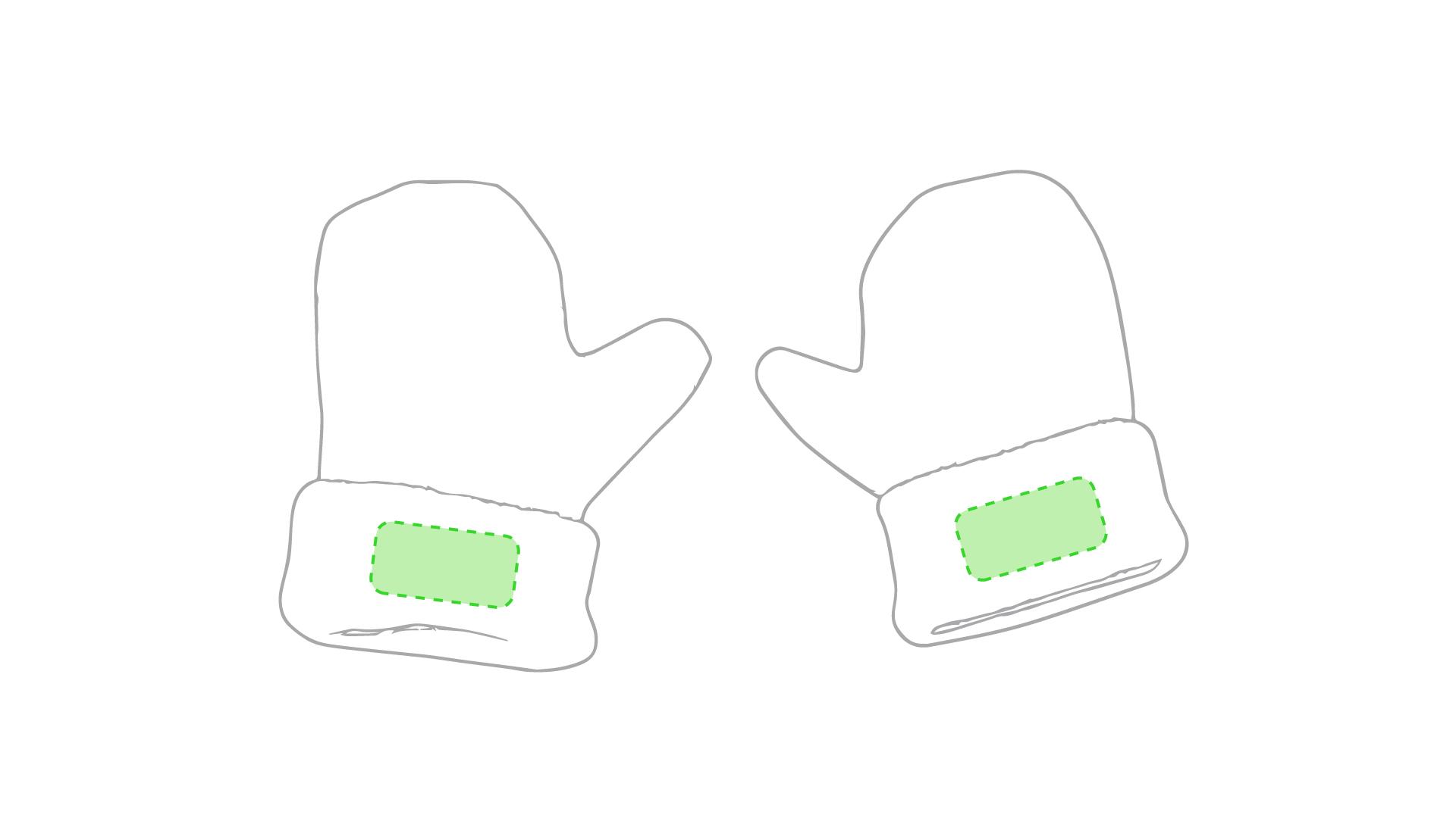 Puño blanco ambos guantes