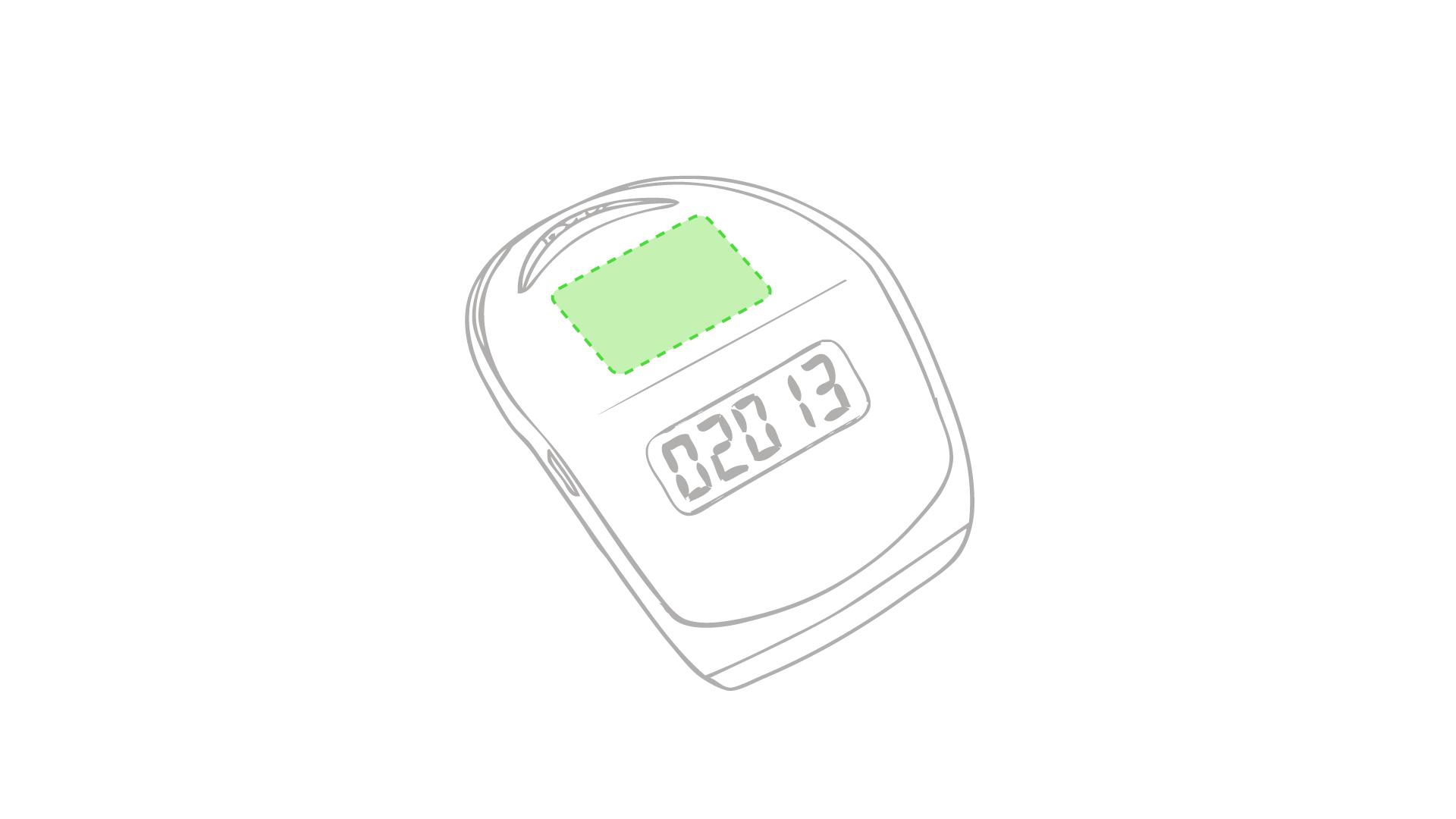 Entre el botón y la pantalla (superficie)