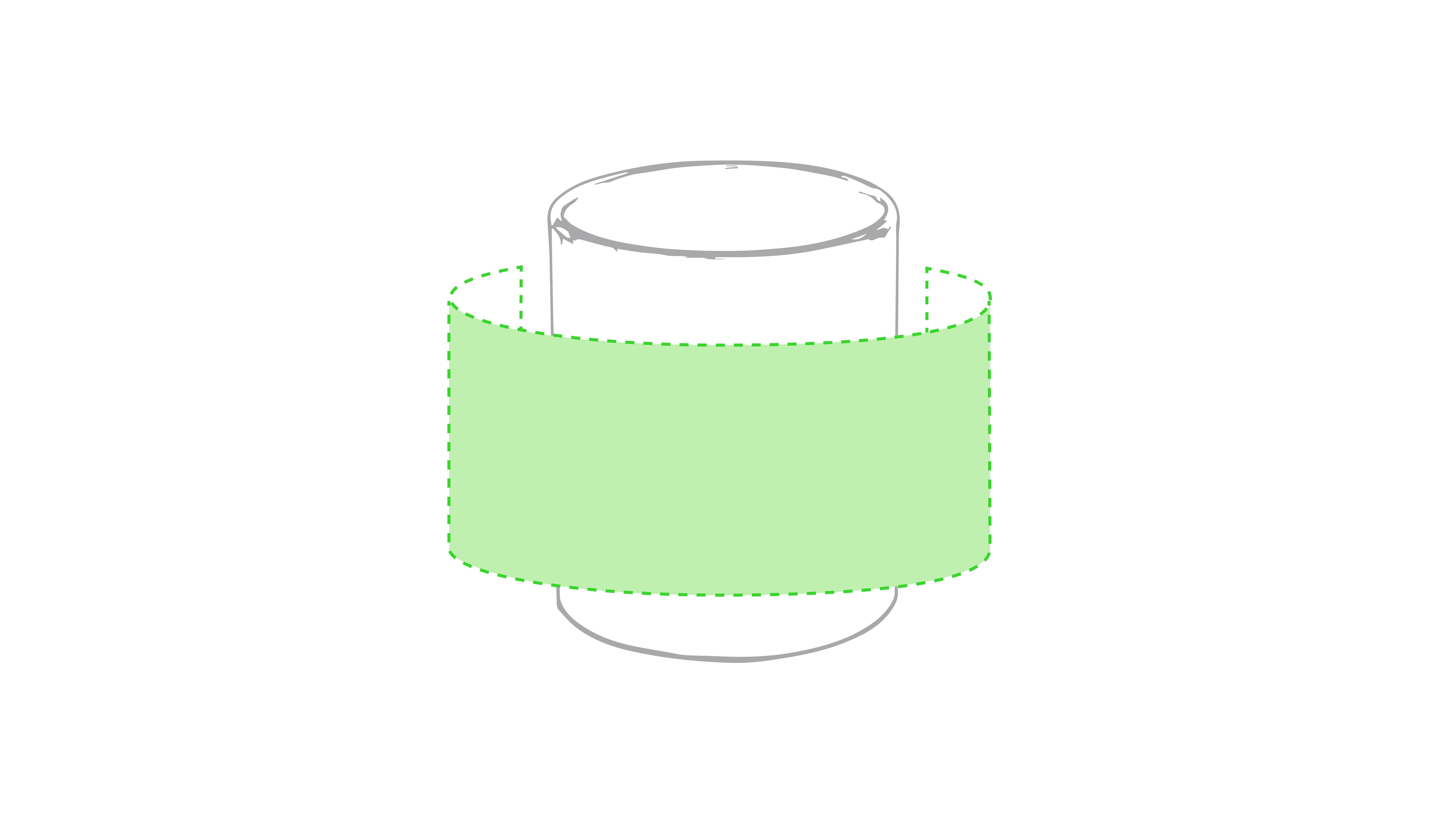 Centrado alrededor de la taza