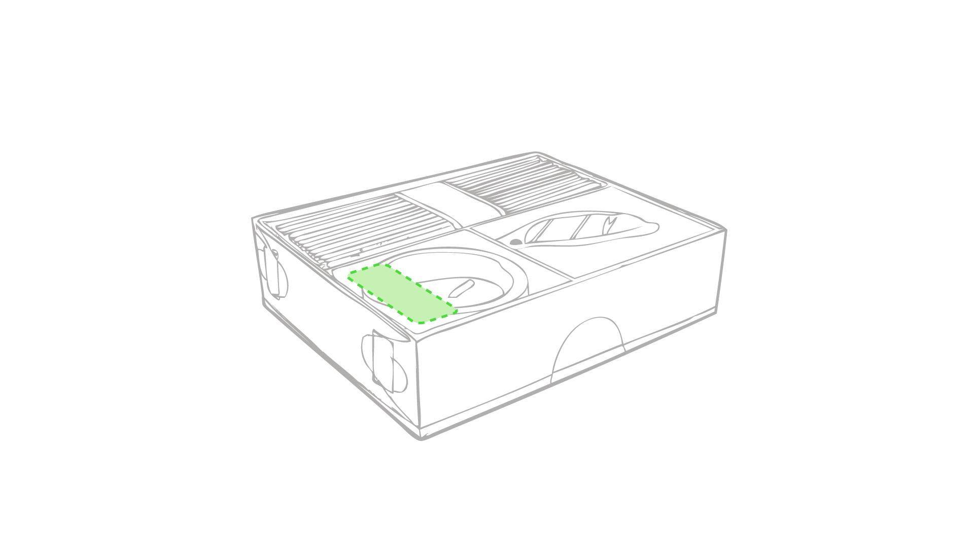Sobre la caja de presentación