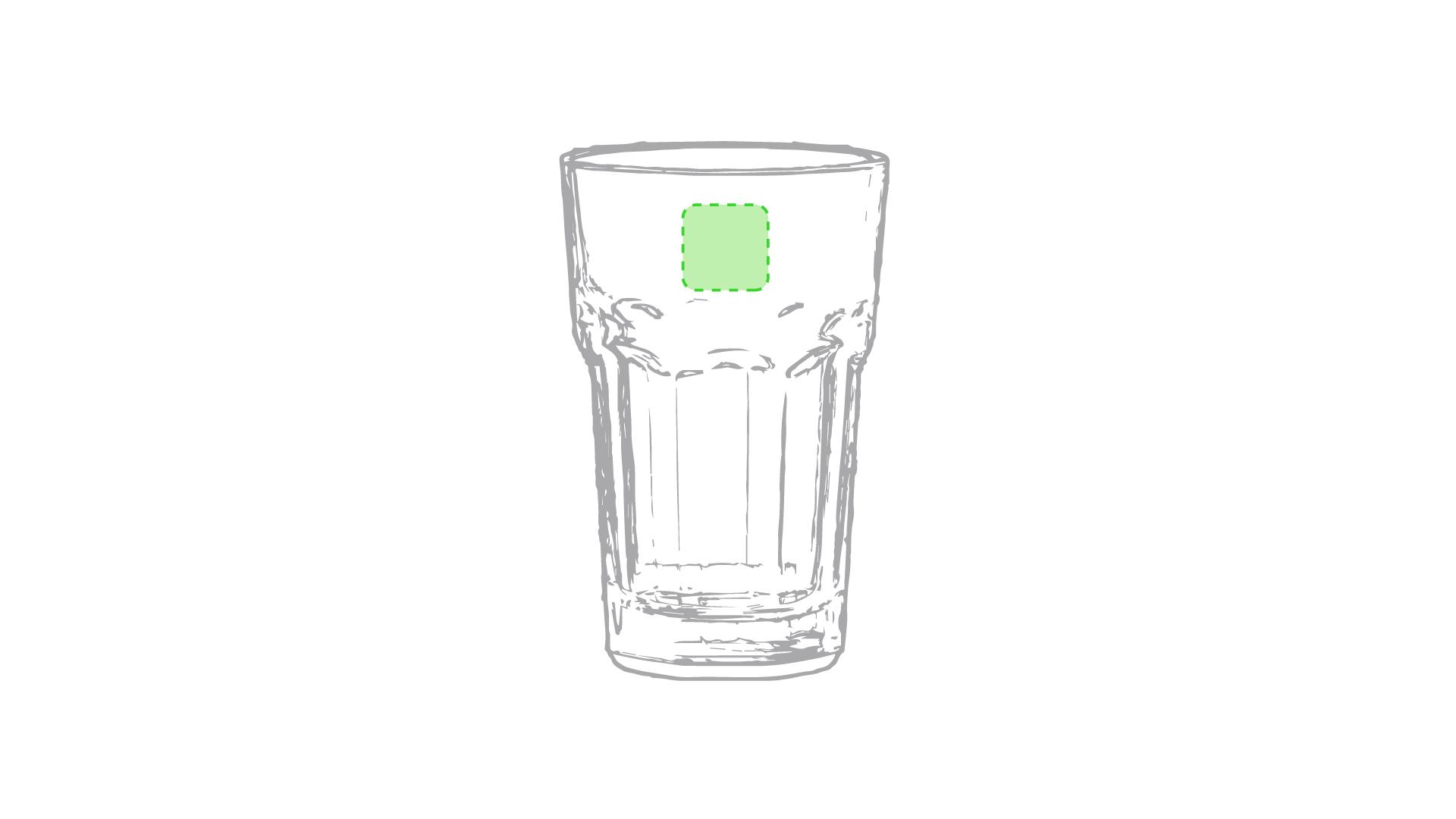 Parte lisa superior del vaso