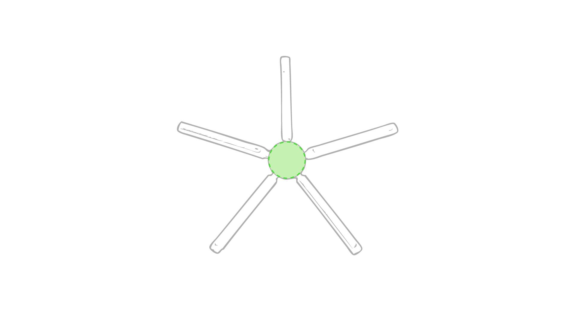 Diámetro, zona circular