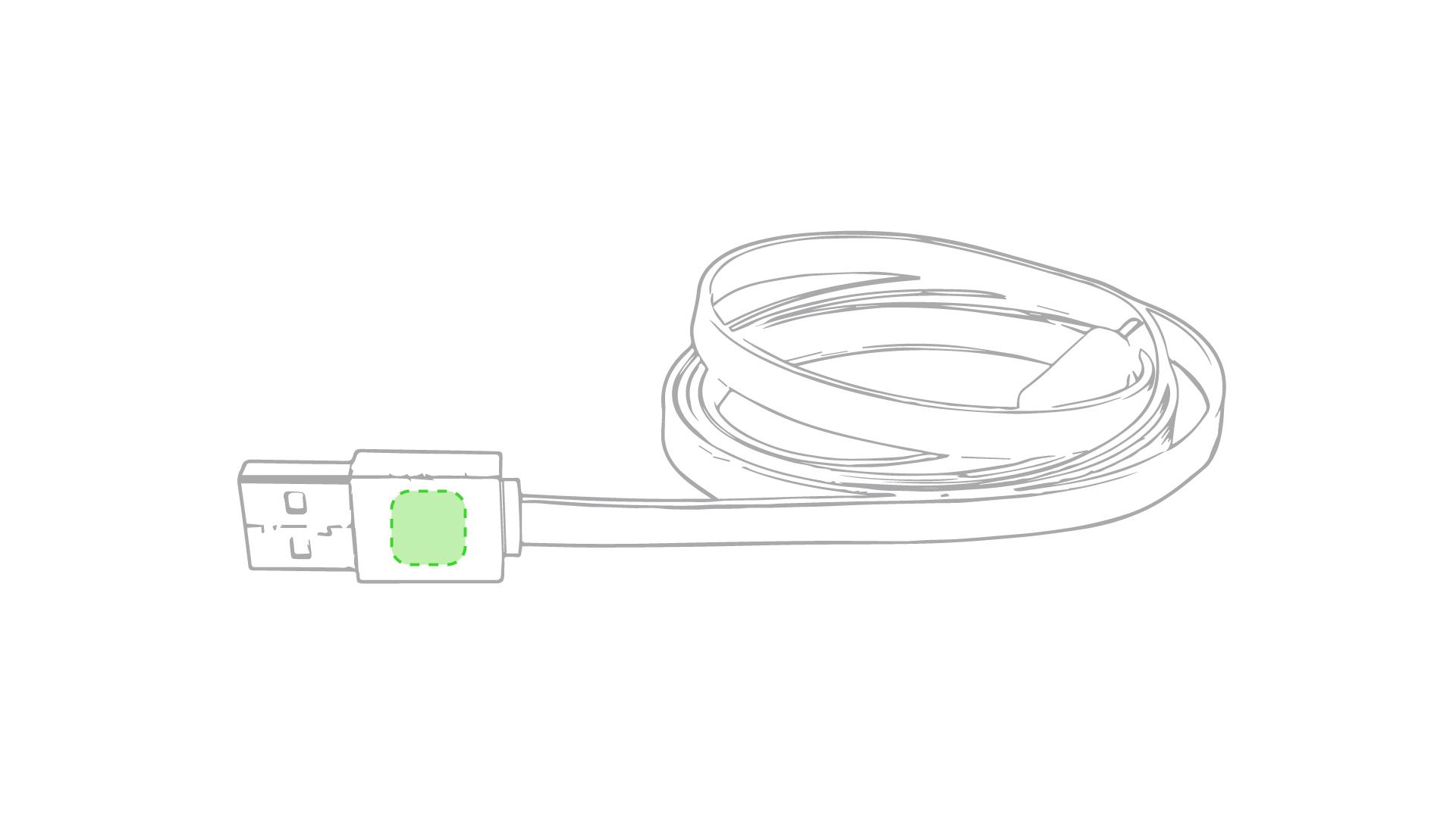 En el conector del USB