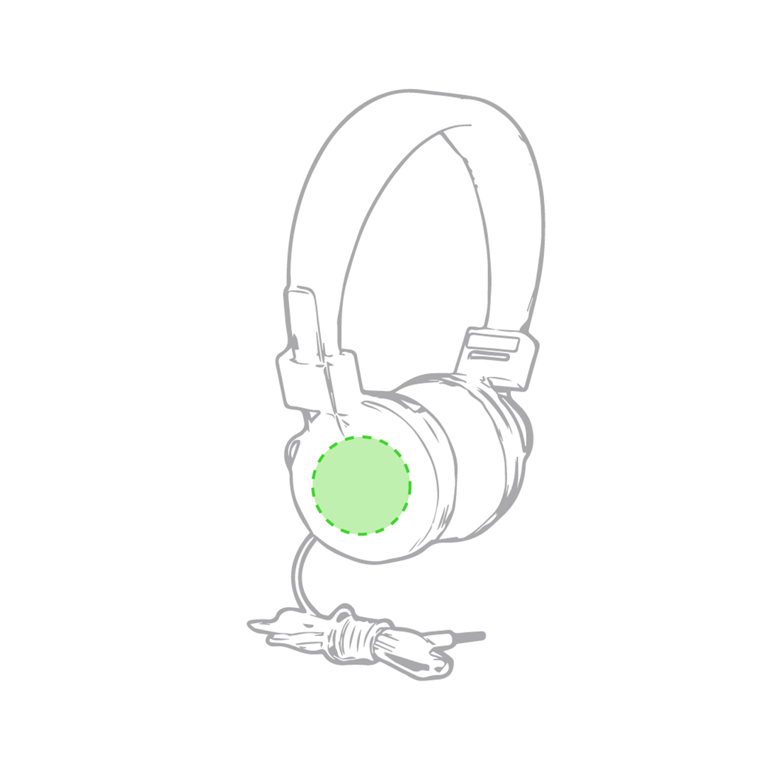 En el auricular izquierdo