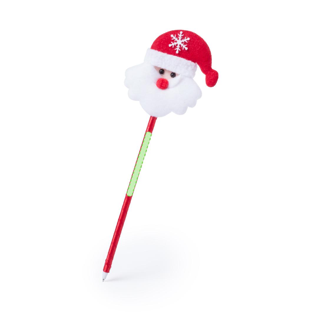 En el cuerpo del bolígrafo