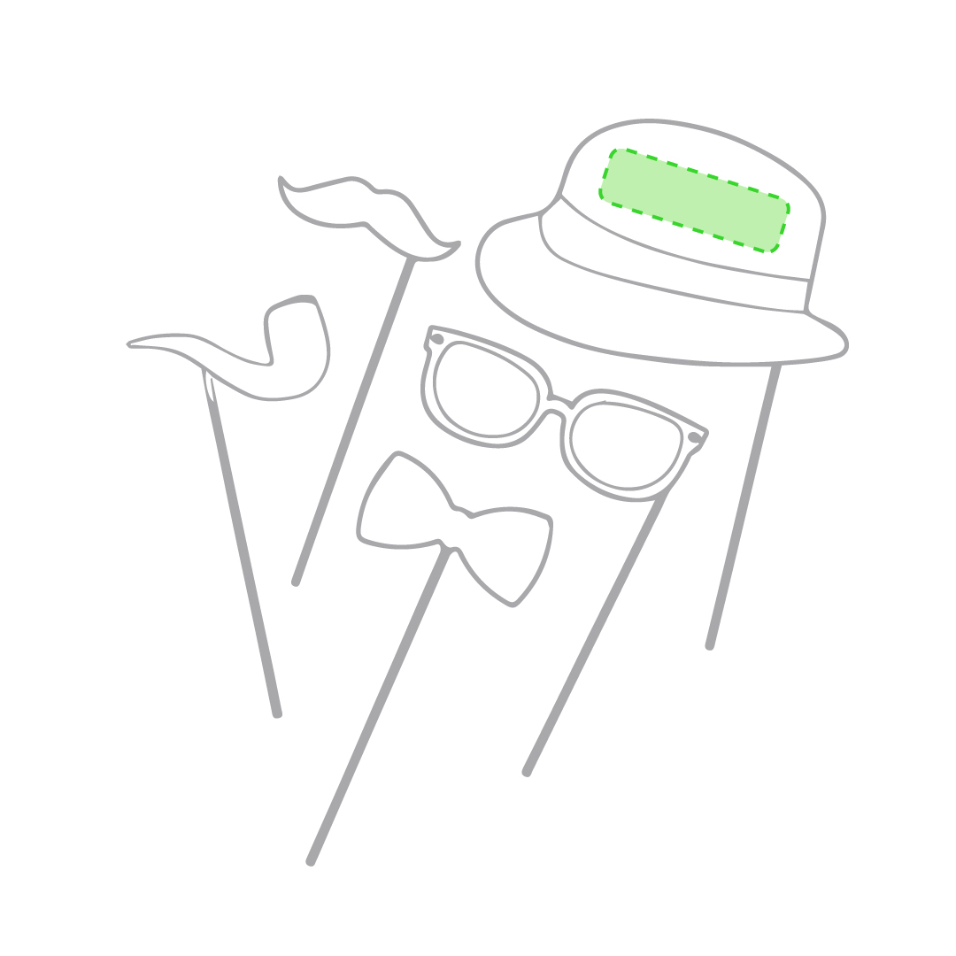 Frontal del sombrero