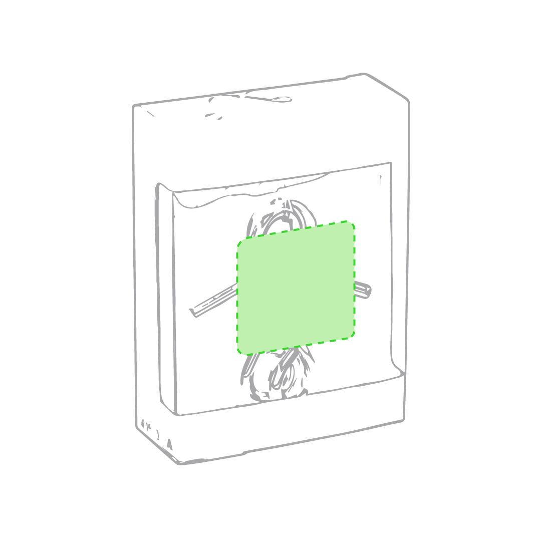 En la caja de presentación