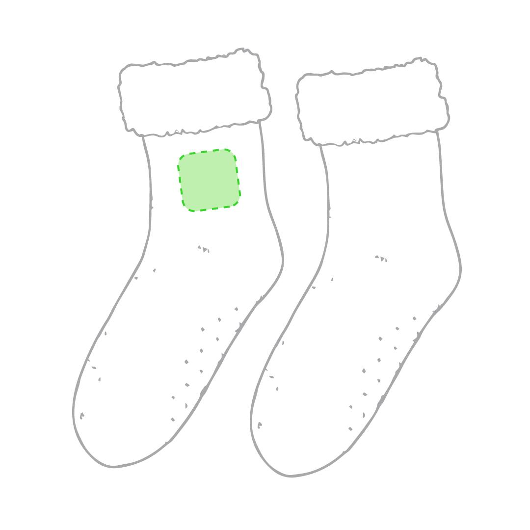 En un calcetín en la zona tobillo lateral