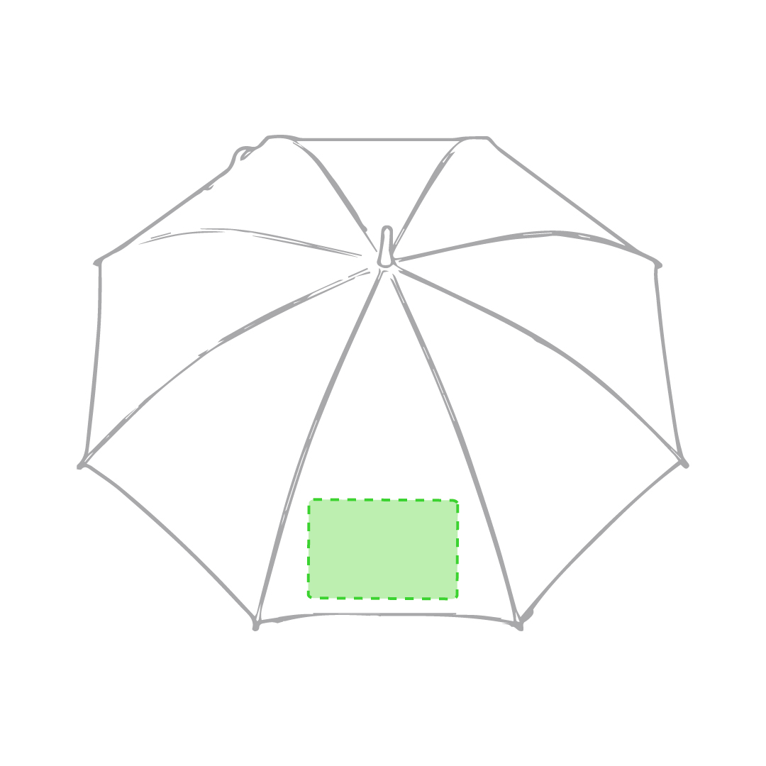 En un panel del paraguas