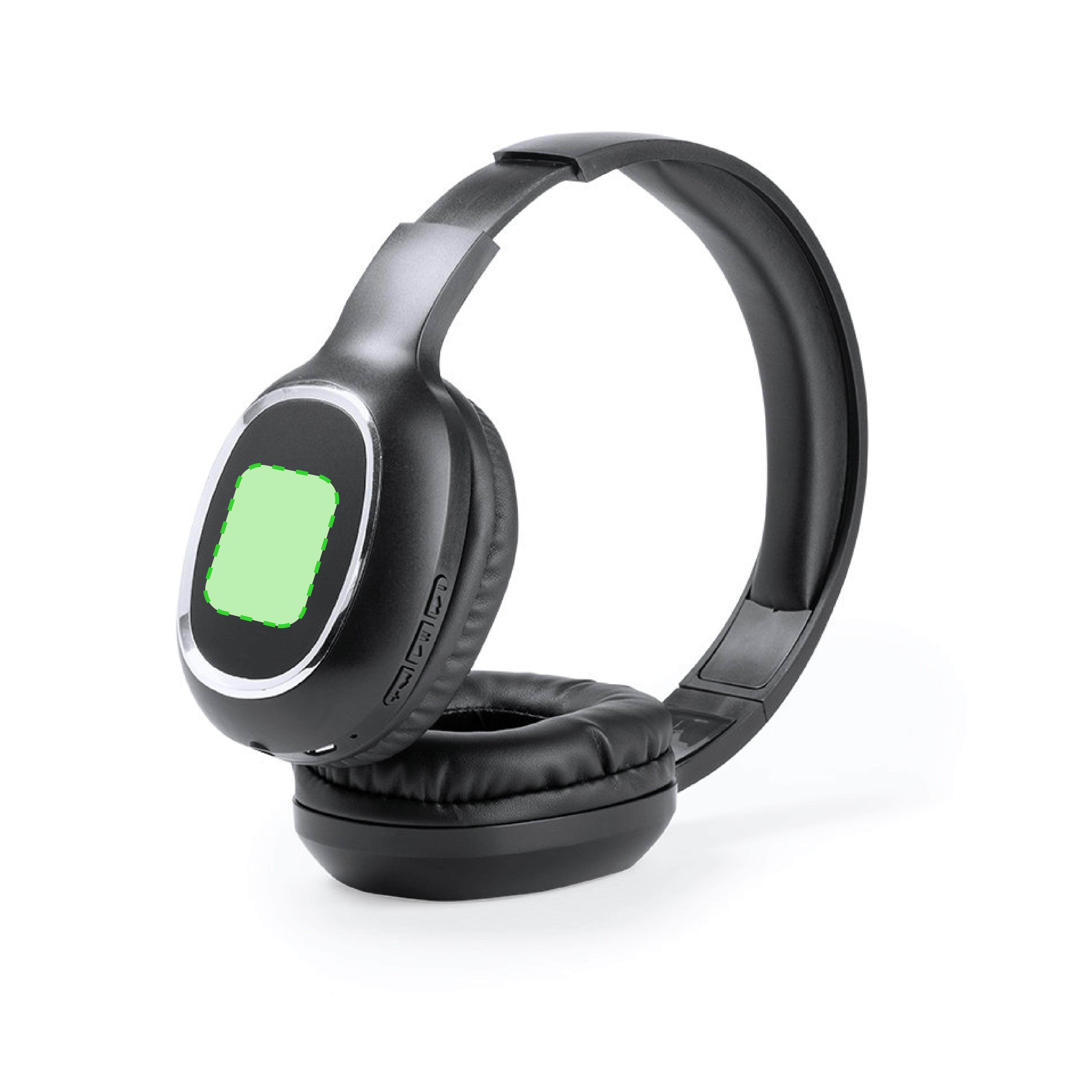 Sobre el auricular izquierdo